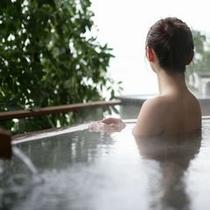 露天風呂入浴イメージ