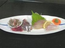 プリップリの地魚のお刺身(一例)