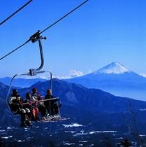 リフトからこんなきれいに富士山が...