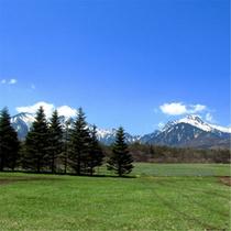 八ヶ岳と壮大な高原
