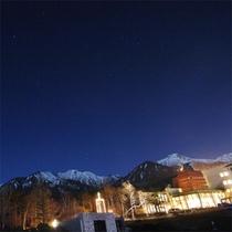 幻想的な冬の夜景