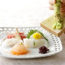 ご夕食・地魚お造り、地物本