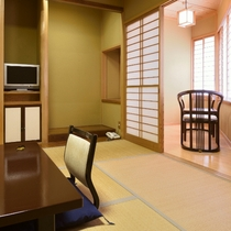 【檜内風呂付のお部屋/和室8畳+広縁一例】