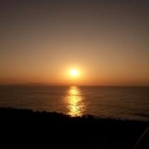 御神崎からの夕日