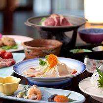 熊本の季節の味覚をご堪能いただける全11品の会席料理です。