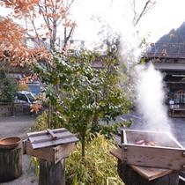 """*旅館専用""""蒸し場""""/弱塩泉の蒸気で蒸すと、ほのかな塩味と温泉の香りが移り◎"""