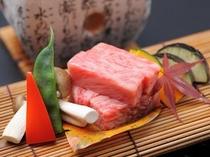 飛騨牛石焼ステーキ盛付け例【秋】