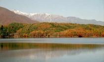 紅葉の青木湖