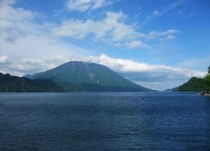 男体山と中禅寺湖