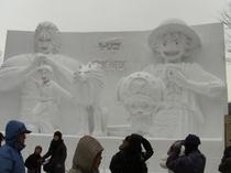 大雪像「トリコ×ワンピース」