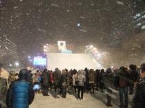 スノーボードジャンプ台at夜