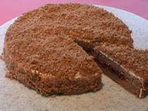 ハスカップのチョコレートケーキ
