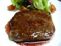 ふらの牛のステーキ