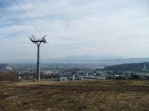 北の峰から見下ろした富良野の町