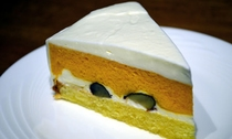 カボチャのムースケーキ