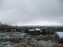 2010年の中富良野の初雪