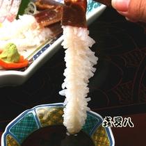 ぷりぷりの蟹のお刺身をどうぞ!