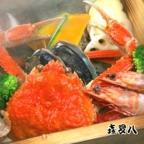 アワビ、ずわい蟹などの豪華蒸し物!