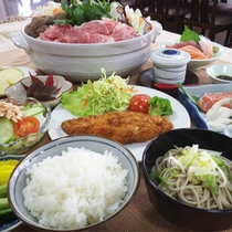 *【すき焼き】夕食一例/大盛りが好評のすき焼きプラン!みゆきポーク料理も付いています♪