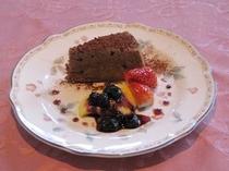 手作りデザート例・・ショコラケーキ