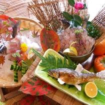【お料理】天然の鮎メニュー