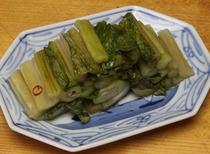 自家製野沢菜