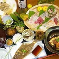 【定番料理一例】新鮮な玄界灘産の天然魚介類をふんだんに使ったコース