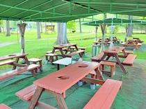 【バーベキューコーナー】屋外で食べるバーベキューは夏の醍醐味です。