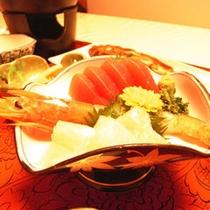 お夕食一例(新鮮!お刺身)