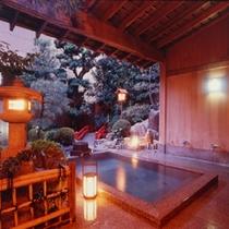 【庭園露天風呂】日本庭園の美しさを堪能できる露天風呂「鄙の湯」