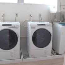 ランドリーコーナーは洗剤も利用も無料です。