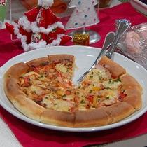 X'masメニューにピザをご用意しました♪