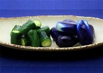 自家製野菜のお新香
