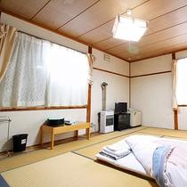 *【和室8畳(一例)】落ち着いた雰囲気の部屋で快適にお過ごしください。