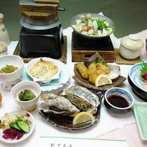 【牡蠣会席コース】赤穂産の新鮮な牡蠣を使った「かき料理」が中心の会席♪
