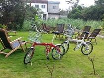 レンタル自転車 赤・白