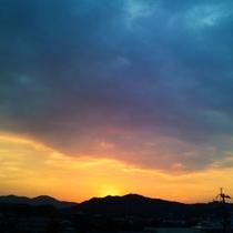 ホテルからの眺め(朝日)