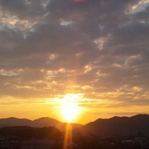 ホテルからの眺め(夕日)