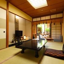 檜の露天付き客室