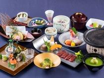 目と舌で春を味わう、和泉荘最高ランクの会席料理です。(5/31までの一例)
