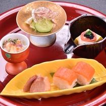 【信州サーモン棒寿司】寿司屋でも滅多に味わえない信州サーモンのお寿司。  2016秋