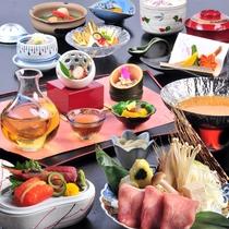 豚の酒蔵味噌鍋をメインとした全10品の会席料理 (11/6~2/28のお料理一例) 2016