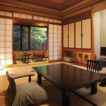 客室露天風呂付メゾネットタイプ「水仙・紅葉・花菖蒲」客室一例
