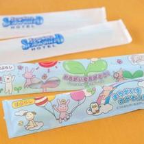 大人用歯ブラシに加えて、子供用歯ブラシのご用意もございます。かわいいパッケージにはゲーム付?!
