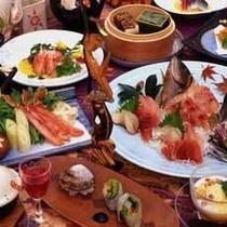伊豆海鮮懐石、金目鯛料理も2品含まれます