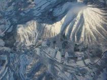 クライスデール上空1000mからの眺め