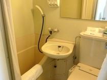 バスルーム コンパクトですが必要な物が用意されています、温水洗浄器付き