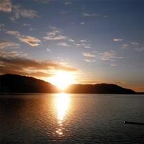 カヌー夕景