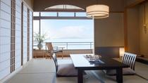 最上階のお部屋からはより綺麗な伊豆大島の眺めを楽しむことができます。SP950-534