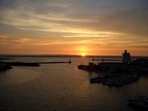 ホテルからの夕陽①